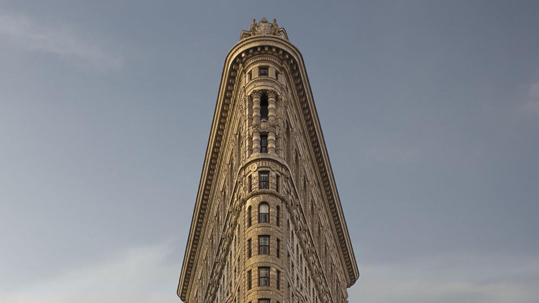 Los edificios de Nueva York sin gente alrededor