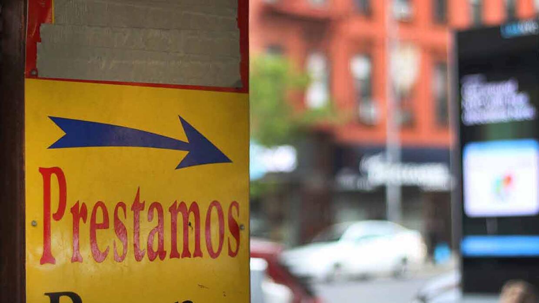 En Nueva York, si se presta dinero con un alto interés –má...