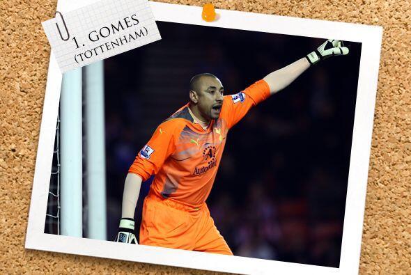 La portería tiene al brasileño Gomes del Tottenham de Inglaterra.