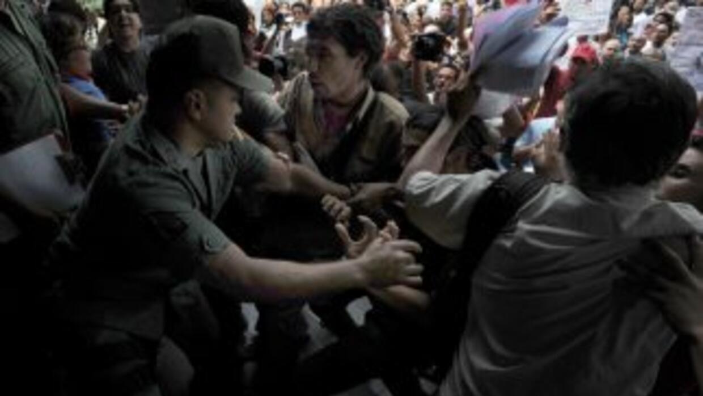 Alrededor de 20 familias fueron desalojadas de las inmediaciones del Pal...
