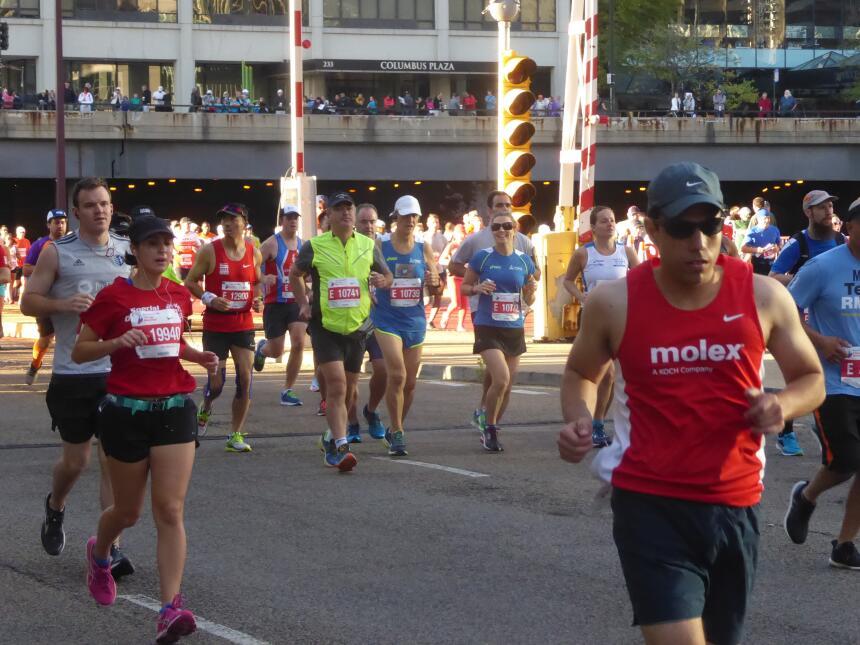 Gran arranque del maratón de Chicago