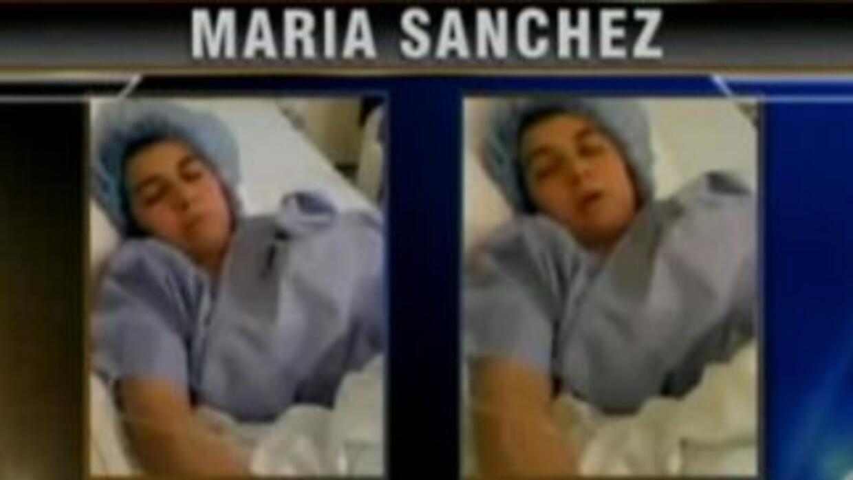 María Sánchez tiene un tumor entre las vértebras del cuello. Un hospital...