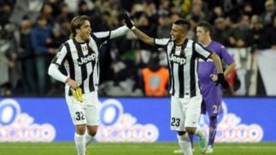 Alessandro Matricelebra el segundo gol de Juventus.