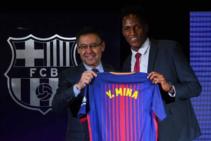 En fotos: así fue la presentación del colombiano Yerry Mina como jugador...