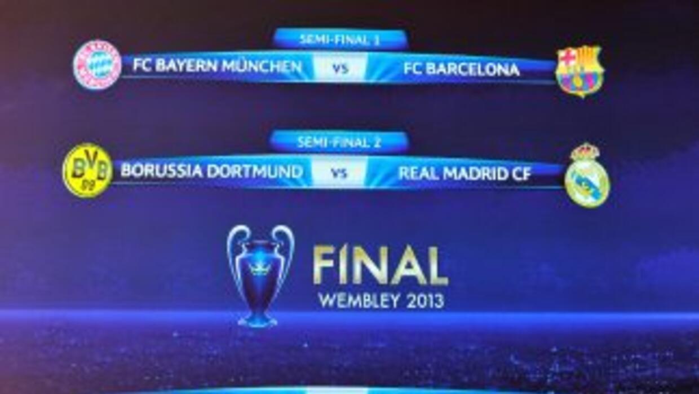 Así quedaron emparejados los equipos para las semifinales de Champions.