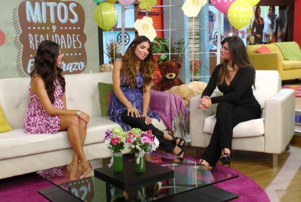 Alejandra expresó que al principio estaba preocupada por su embarazo, pe...