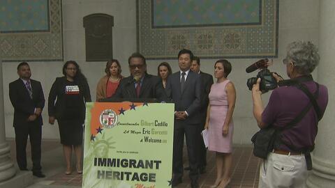 Los Ángeles resalta los éxitos de sus migrantes para sacudirse la retóri...