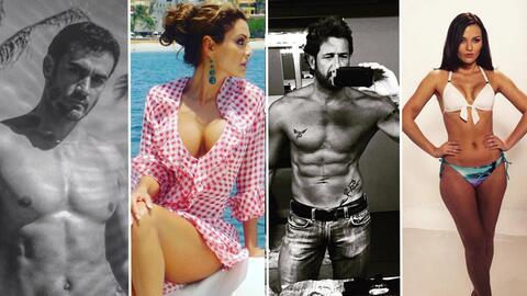 Actores de telenovela en traje de baño
