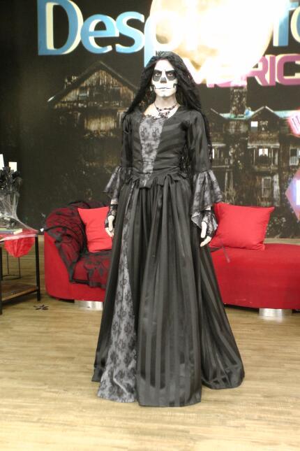 Francisca Lachapel estaba irreconocible en su papel de calaca.