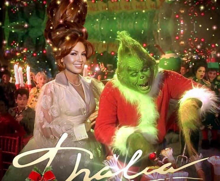 Hasta sedujo al Grinch para que la dejara tener una Feliz Navidad.