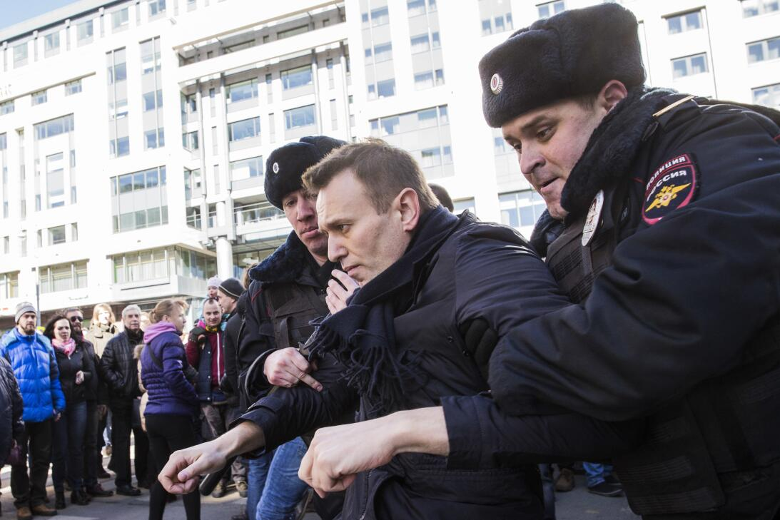 Alexei Navalny, opositor del gobierno de Vladimir Putin y quien convocó...
