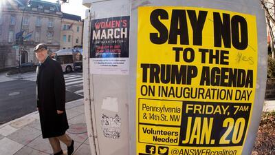 El centro de la celebración y las protestas: Washington se alista para la toma de posesión de Donald Trump