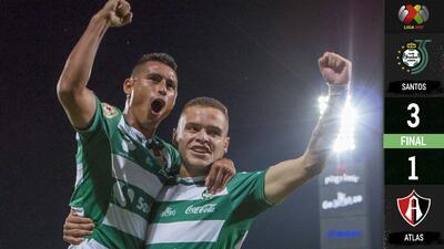 ¡Hay nuevo líder! A punta de goles, Santos regresó a su realidad al Atlas