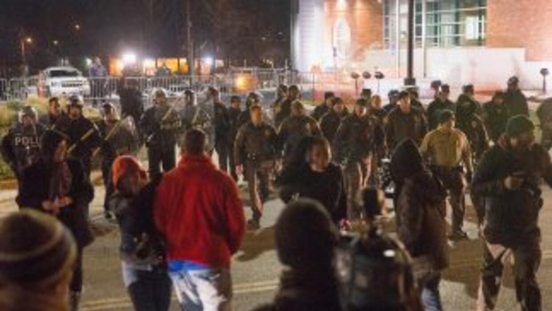 Manifestantes en Ferguson, Missouri.