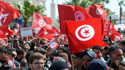 Túnez marcha en contra del terrorismo yihadista