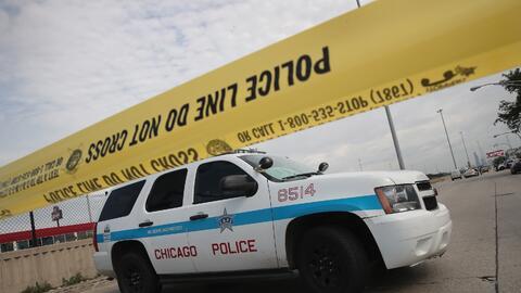 Imagen de archivo de una investigación policíaca tras un tiroteo en Chic...