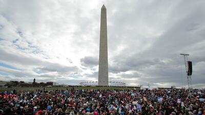 En fotos: la Marcha por la Vida salpicada por la política tras la participación del vicepresidente Pence