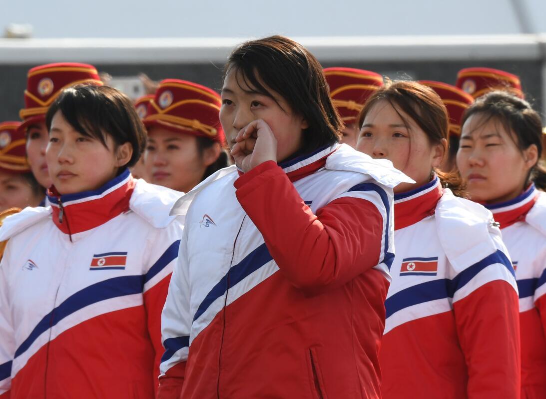 Llegada de Corea del Norte a Pyeongchang 2018 gettyimages-915590862.jpg