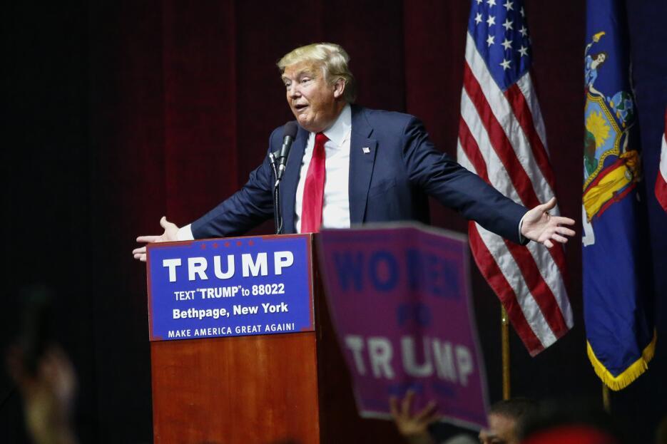 El candidato en un evento en Long Island, el pasado 6 de abril. El magna...
