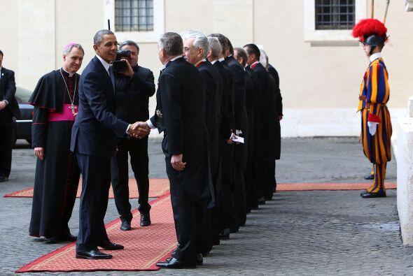 Los Gentiles hombres del Papa formaron también parte del recibimiento