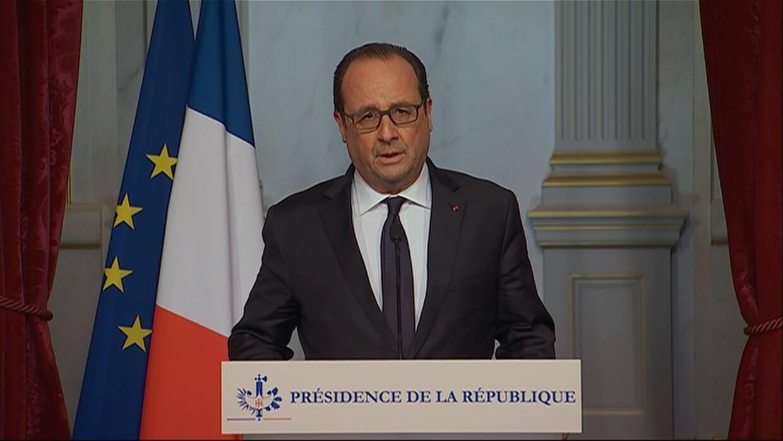 Francois Hollande, presidente francés.