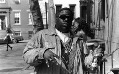 American rapper Biggie Smalls (also known as the Notorious B.I.G., born...