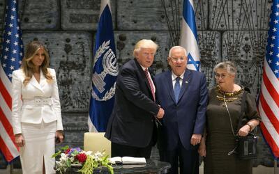 """Trump en Israel: """"Hay un gran sentimiento a favor de la paz en Oriente M..."""
