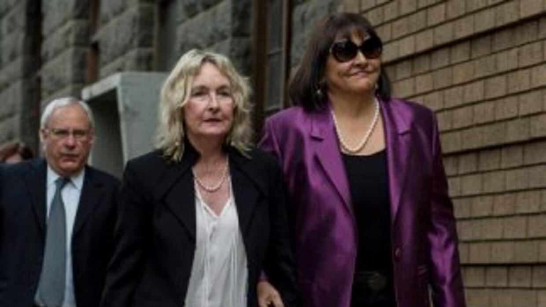 June Steenkamp a su llegada a la corte.