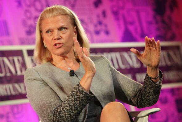 2.Ginni Rometty.  La CEO y directora de IBM se alzó con el segund...