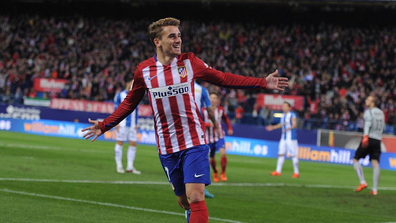 Griezmann celebra su gol ante en Espanyol.