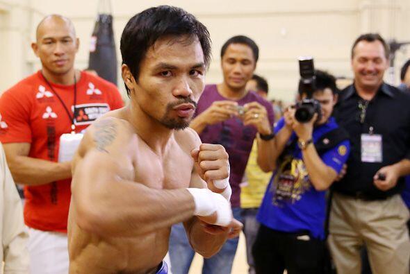 Manny Pacquiao entrena