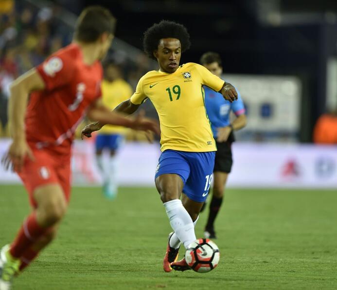 El ranking de los jugadores de Brasil vs Perú Willian.jpg