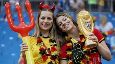 Rostov contó con el protagonismo de las fanáticas de Bélgica y Japón
