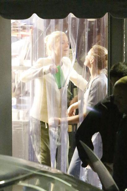 Y es ahí mismo donde los paparazzis captaron esta vez a  Gwyneth Paltrow...