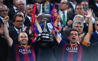 Andrés Iniesta y Xavi Hernández en Barcelona