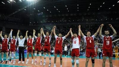 Los polacos celebraron la victoria ante el conjunto de Estados Unidos.