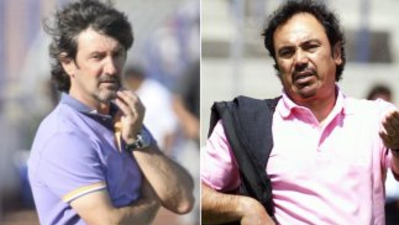 Bakero y Hugo, ex figuras de Barcelona y Real Madrid respectivamente, co...