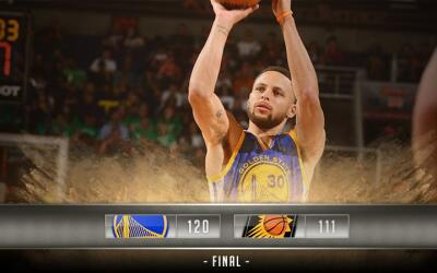 Stephen Curry anotó 42 puntos