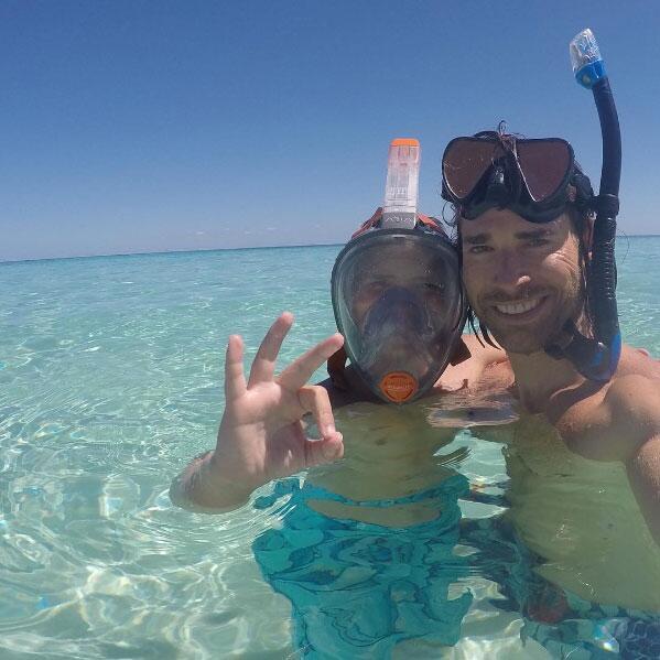 Sebastián Rulli y su hijo de vacaciones