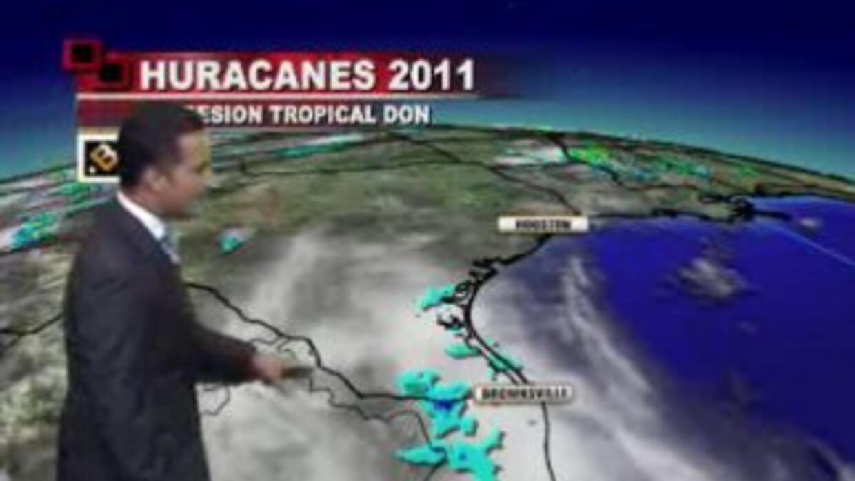 Don se convirtió en Depresión Tropical al tocar las costas de Texas y pe...