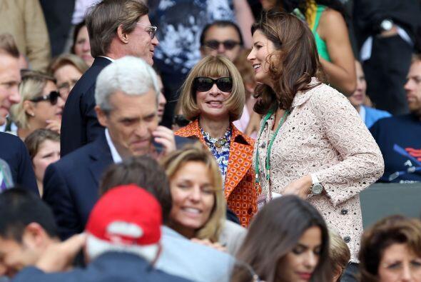 Tampoco podía faltar el apoyo incondicional de Federer, su esposa Mirka.