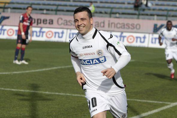 Con dos goles de Antonio Di Natale el Udinese se adjudicó la goleada de...