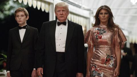 Trump celebró el Año Nuevo con una lujosa fiesta en su clu...