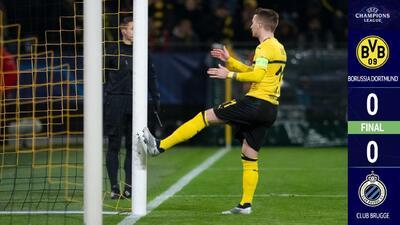 Pulisic, mal y de malas: no aprovechó y el Borussia empató con el Brujas