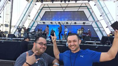 Pancho y René visitaron los ensayos de 'RiseUp As One'