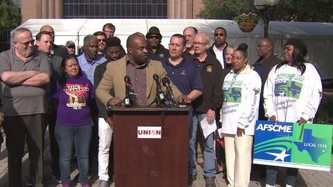 Importantes sindicatos de Houston se unieron para reconocer el trabajo d...