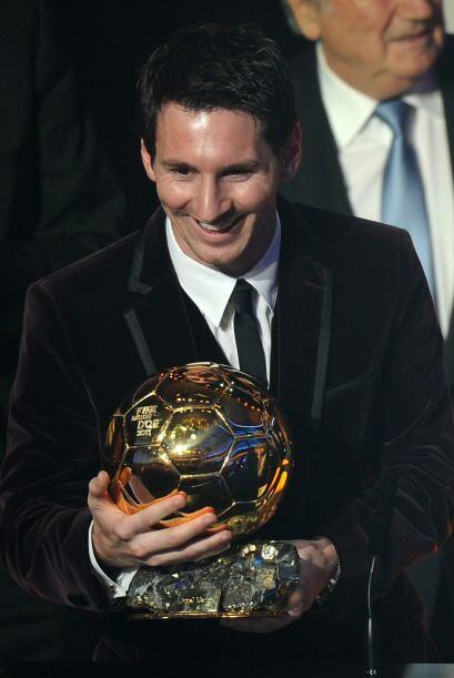 Tras la premiación, se veía bastante contento Lionel.