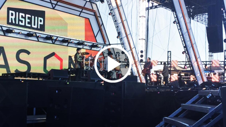 RiseUp AS ONE: los Tigres del Norte abren el concierto en la frontera