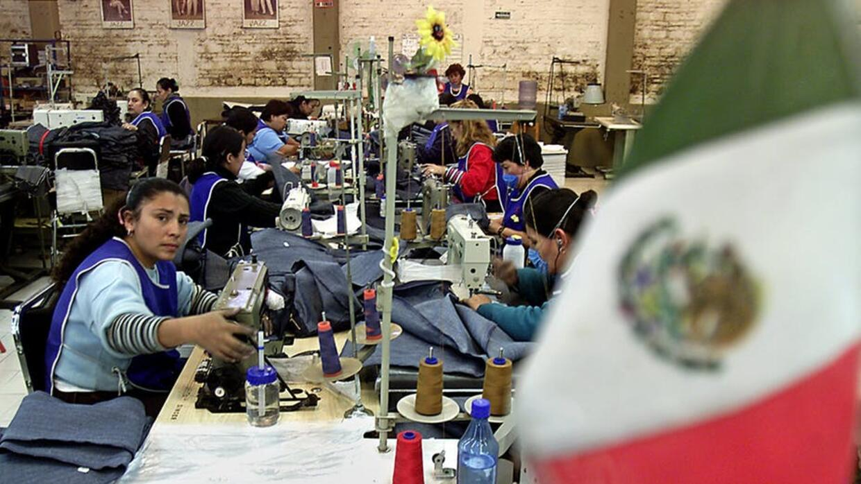 Mexican factory workers