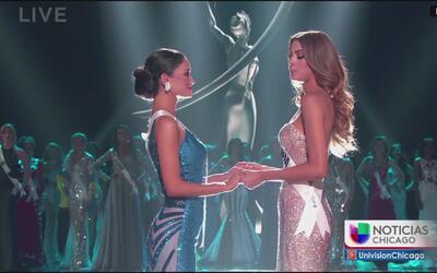 Reaccionan colombianos en Chicago por lo sucedido en Miss Universo